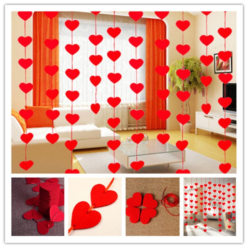 Heart-shaped paper flowers 1pcs non-woven drawing paper flowers wedding banners hanging wreath shower door decoration 8ZSH282(China (Mainland))