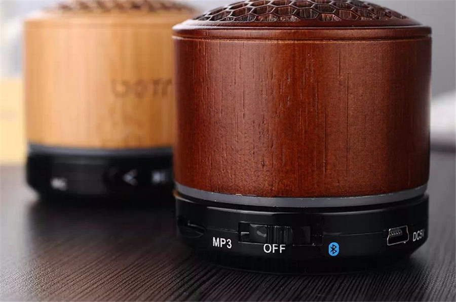 Vintage Design Portable Wireless Bluetooth Rechargeable Natural Unique Wood Speaker Hi-Fi Boxes(China (Mainland))