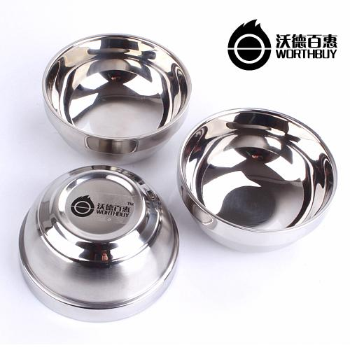 Noble quality Creative Household stainless steel bowl cute dessert soup bowl rice bowl Yuwan Students Children(China (Mainland))