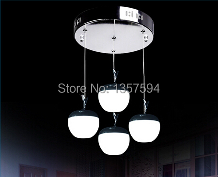HOT SELLING LED APPLE 4 HEADS PENDANT LAMP DINING ROOM/LIVING ROOM LAMP(China (Mainland))