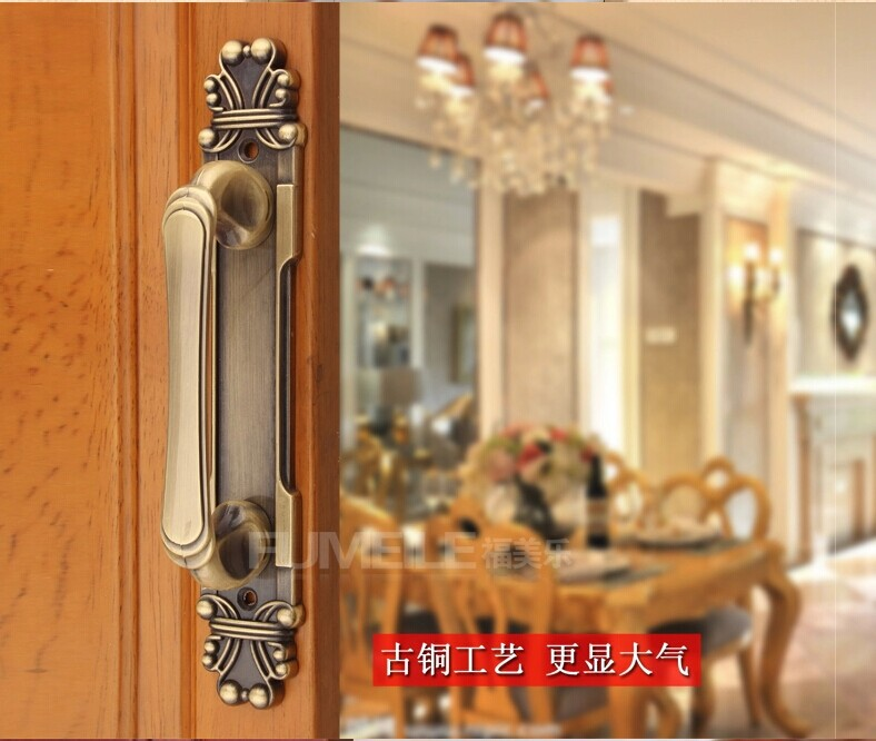 Hardware accessories 2014 High quality Antique Door Wardrobe handle Furniture handles Drawer knobs 165mm 5pcs/lot Freeshipping(China (Mainland))