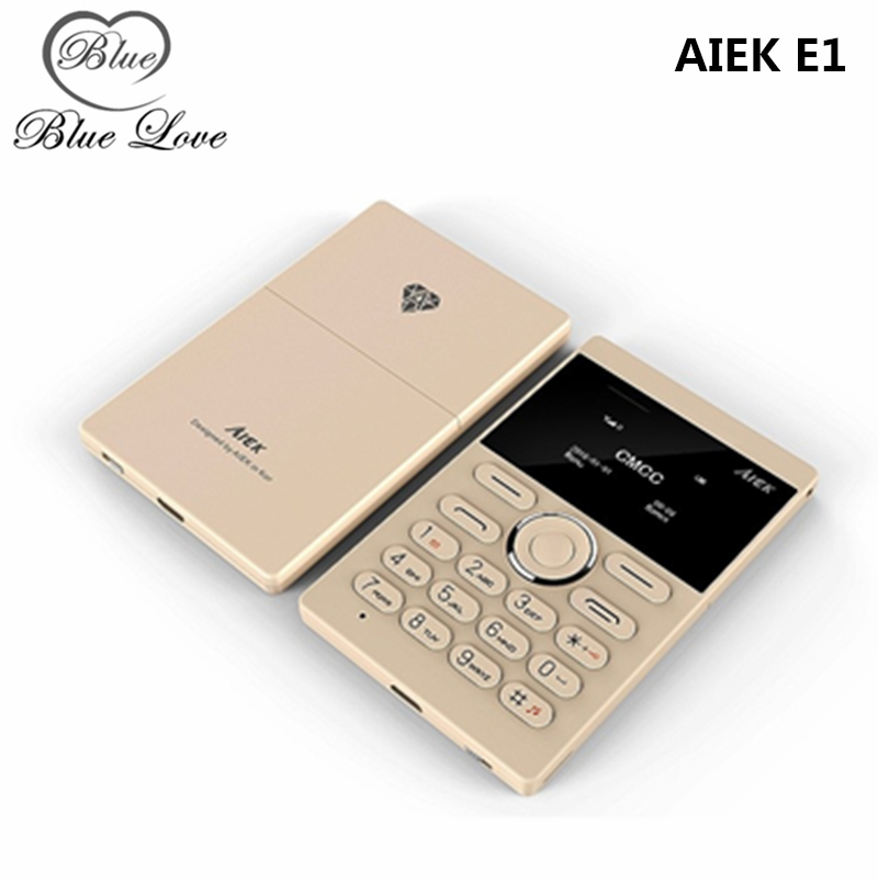 2016 New AIEK E1 Card Phone Student Version slim thin phone children kids Cell Phone Mobile Phone(China (Mainland))