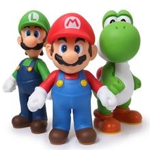 Super Mario 3pcs/set Bros Mario Yoshi Luigi PVC Action Figure Collectible Model Toy 11-12cm KT2652(China (Mainland))