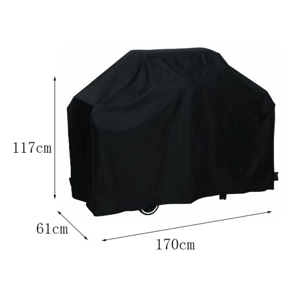 Waterproof BBQ Cover Outdoor Rain Barbecue Grill Protector 170*61*117M For Gas Charcoal Electric Barbeque Grill(China (Mainland))