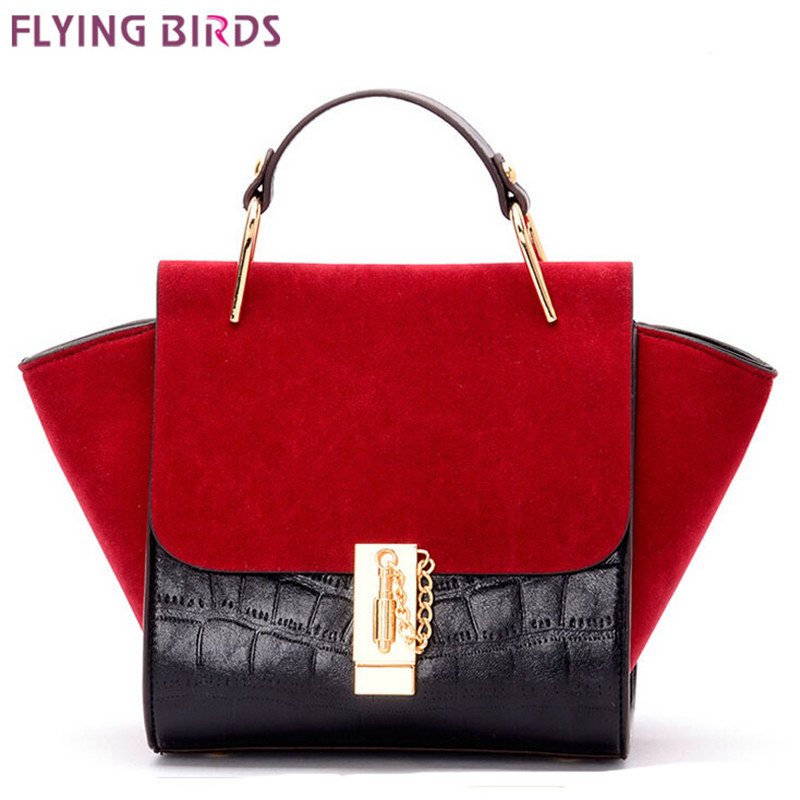 FLYING BIRDS ! Women bags High Quality Woman's PU Leather Handbags Messenger Bags in Shoulder Ladies Cross-body Bag Tote LS5567