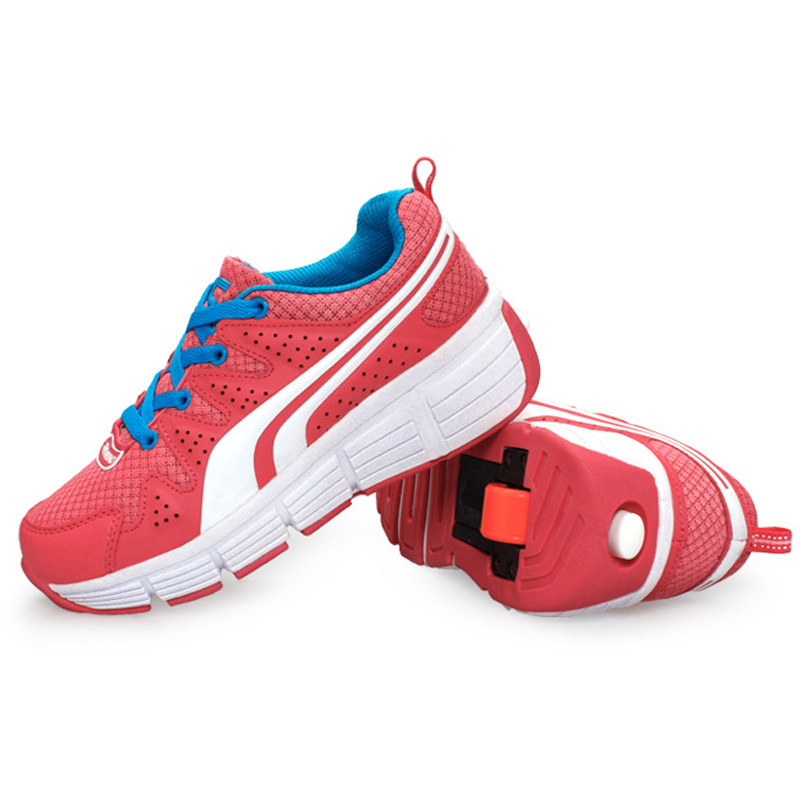 Roller Shoes 2015 Ultra Light Heelys For Boys Girls Outdoor Sneakers Automatic Blue Pink Kids Trainers EU 32-42 Sport Sapatos<br><br>Aliexpress