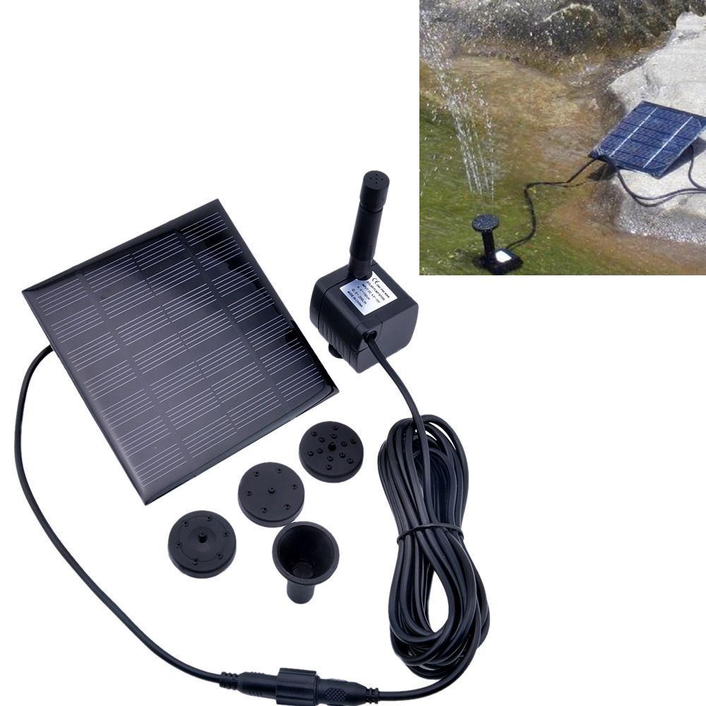 Comprar 2015 nuevo 1 unidades panel solar for Bomba de agua para riego de jardin