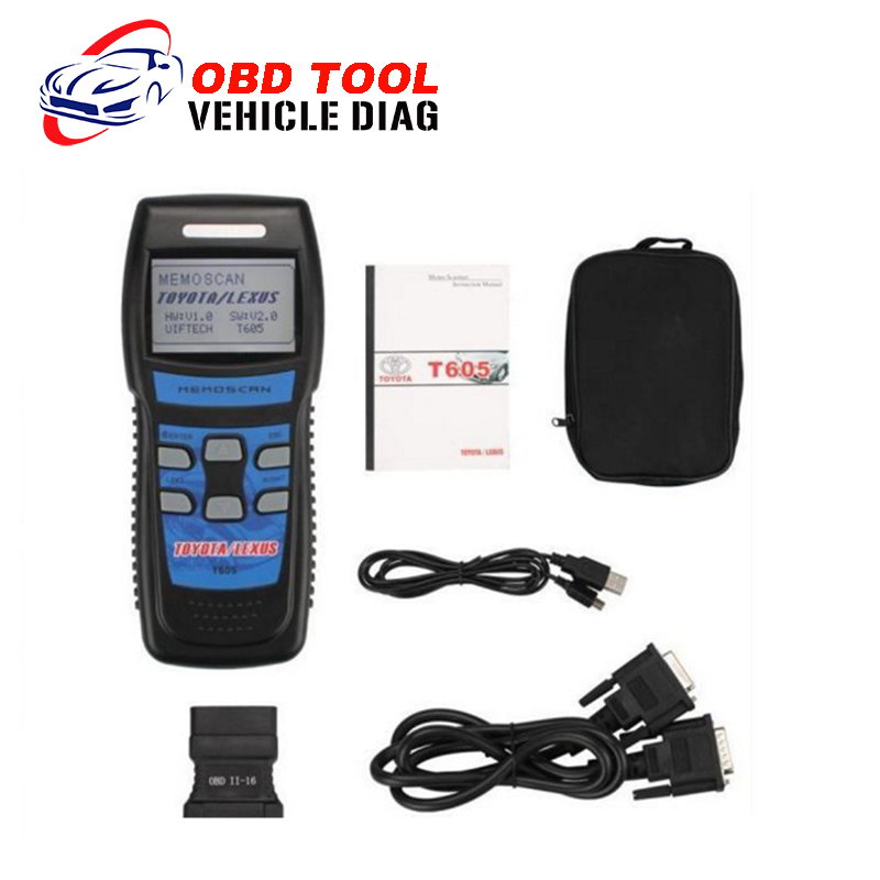2016 Memoscan T605 for TOYOTA LEXUS OBD2 Auto Diagnostict Tool Code Scanner OBDII Fault Scan Tool Promotion DHL Free Shipping(China (Mainland))