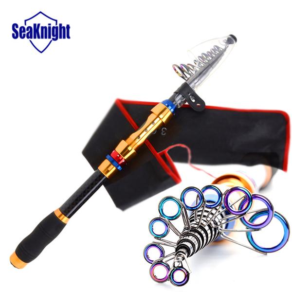 SeaKnight Luxurious Portable Carbon Fiber Sea Telescopic Fishing Rod Spinning Travel Carp Fishing Pole 2.1m 2.7m 3.0m 3.6m(China (Mainland))