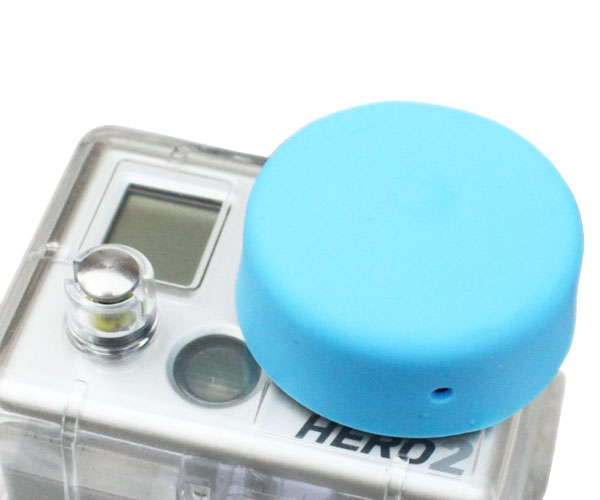 protective Lens Cap Silicon Cover Dustproof For Go pro HD Hero 2 Go Pro camera Accessories Black Blue white GP42 Free shipping(China (Mainland))