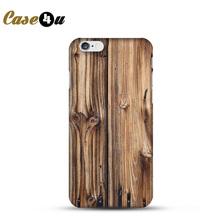 For capinhas para iphone 4s 5s 6s 6plus Original Wooden Pattern Phone Case Cover Plastic PC Hard Back Coque Celular Fundas