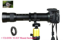 Kelda 420-800mm F/8.3-16 Super Telephoto Lens Manual Zoom TELE + T2 Mount Adapter for Canon EOS DSLR Camera EF EF-S Mount Lens(China (Mainland))