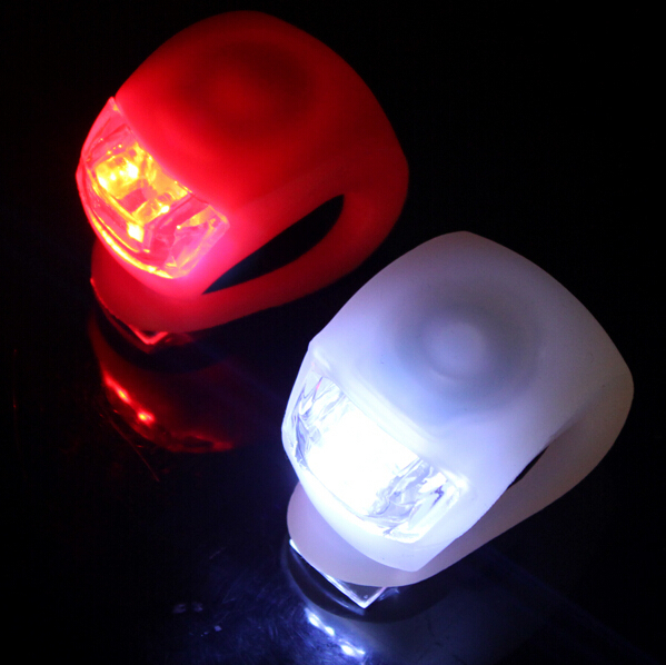 Mini Brillant Waterproof SILICON Bike Bicycle Cycling Beetle Warning Light LED Front Light Rear Tail Lamp color white red BL6003(China (Mainland))