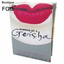 Women Vintage Fashion European And American Brand Diary Geisha Book Shoulder Messenger Handbags Casual Clutch Bag Metal Clutches(China (Mainland))