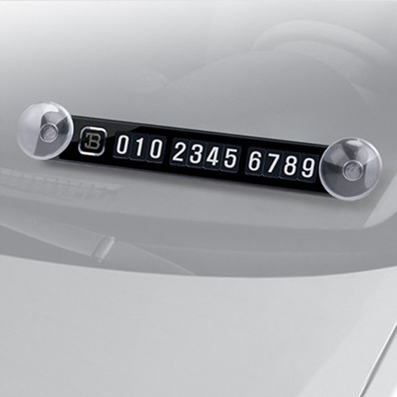 Magnetic Temporary Parking Card Phone Number Card Plate Car Sticker for Suzuki Grand Vitara Hyundai Ix35