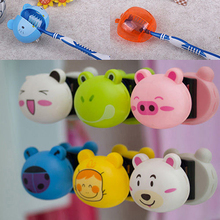 3D Cartoon Toothbrush Holder Stand Mount Wall Suction Grip Rack Home Bathroom 6XQM(China (Mainland))