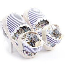 New Baby Girls Cotton Shoes Striped Lace Infant First Walkers Soft Soled Anti Slippers 0-18M Free Shipping