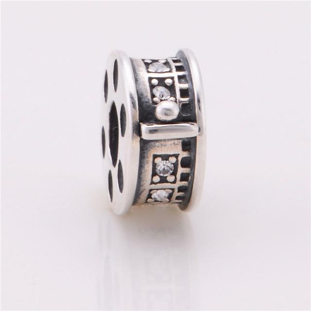 925 стерлингового серебра шарики прокладки бусины фильм дизайн прелести подходит европейский бренд DIY ювелирные изделия змея цепи браслет