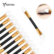 10pcs/pack New Professional Makeup Double-end Eye Shadow Eyeliner Brushes Sponge Rod Cosmetic Make Up Applicator Tools(China (Mainland))