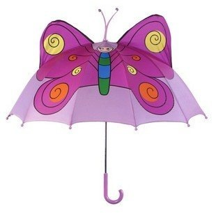 Free shipping cartoon Creativity butterfly umbrellas for children