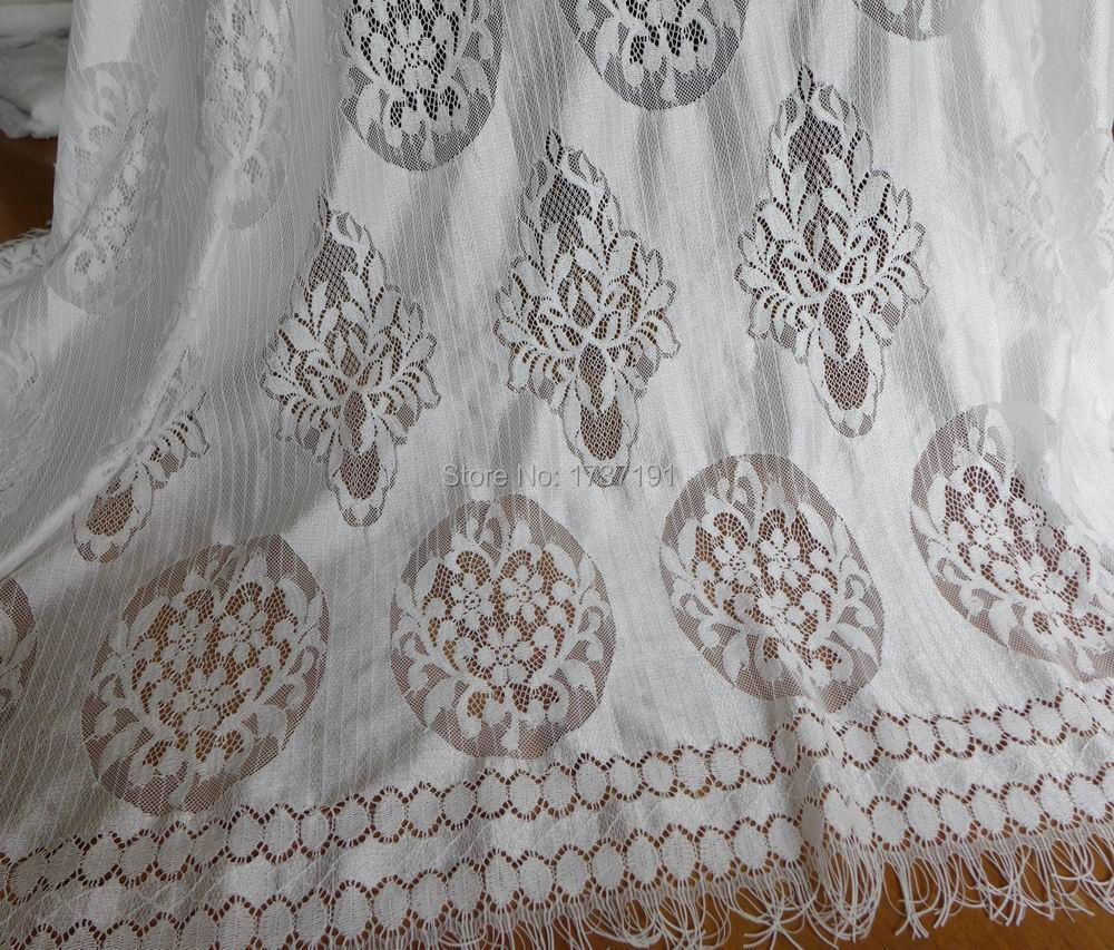 Buy vintage inspired white lace fabric 55 for Wedding dress lace fabric