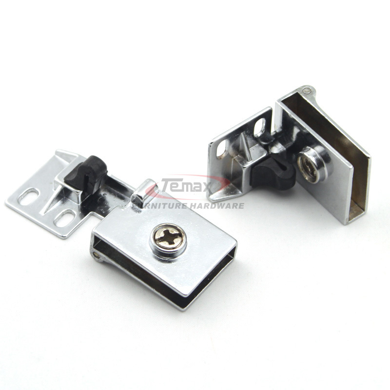 1 Pair Glass Cabinet Door Metal Hinge Zinc Alloy Glass