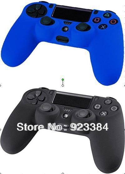 2 X New Black + Blue Soft Silicone Protective Sleeve Case Skin Cover PlayStation 4 PS4 Controller - ViKing store