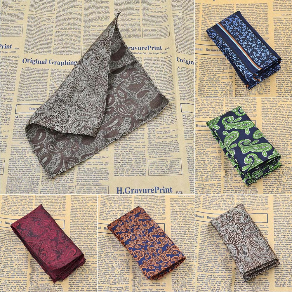 Fashion Accessories Embroidery Men's Pocket Square Upscale Handkerchief Hanky Jacquard Woven Classic Wedding Party Handkerchief(China (Mainland))