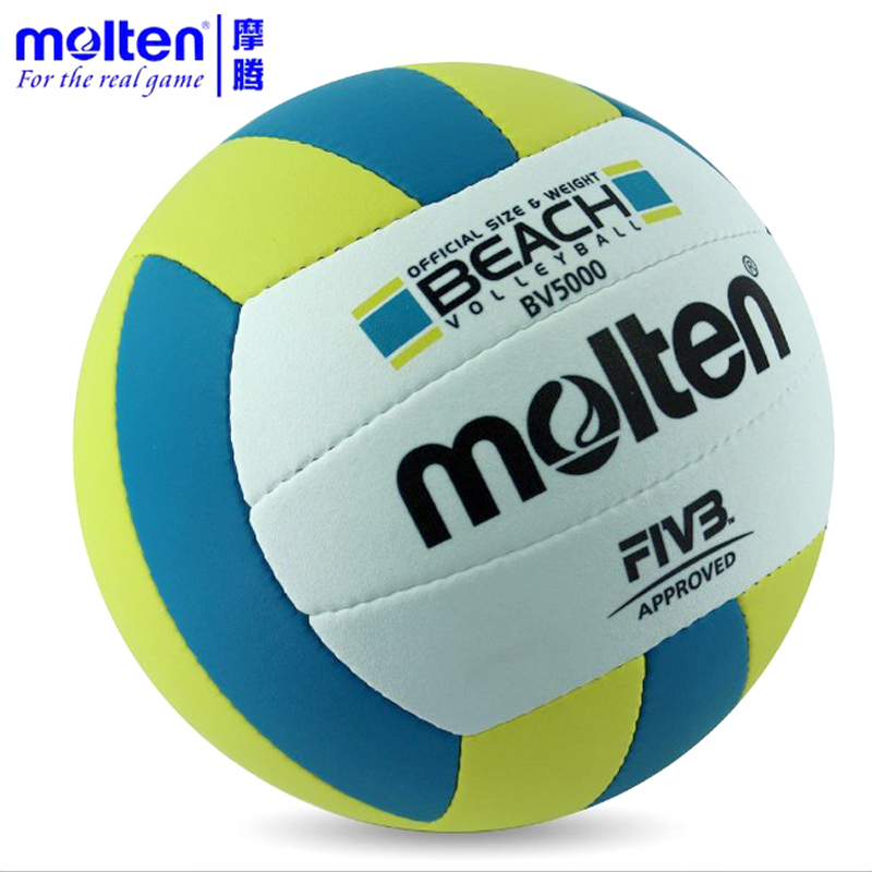Molten PU Sand Beach Volleyball Official Size Weight 5# Ball Game Match Handballs Outdoor Indoor Compitition Training Ball(China (Mainland))