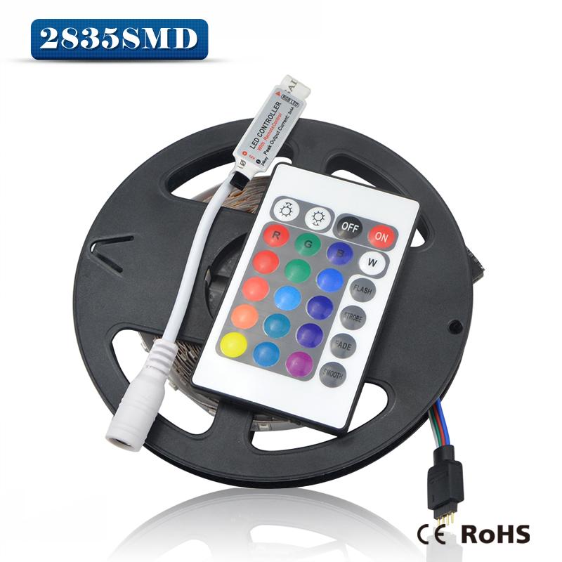 2835 3528 SMD RGB led strip light 5M 300LED / 24key IR Remote Controller For Indoor Decorative & lighting(China (Mainland))