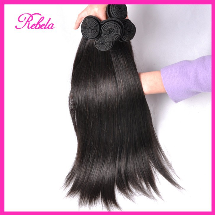 King Peruvian Straight Virgin Hair 7A Unprocessed 4 Bundles Qingdao Hot Products - Rebela hair products Co.,Ltd store