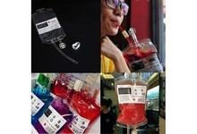 5pcs Energy Blood Bag Hallowen Reusable Drink Bottle Vampire Diaries Props Party Cos(China (Mainland))