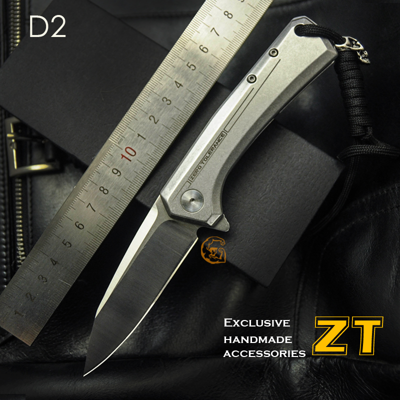 High quality!ZT tactical Folding Knive D2 Blade all steel handle Camping Outdoor Survival Knives Pocket EDCTools(China (Mainland))