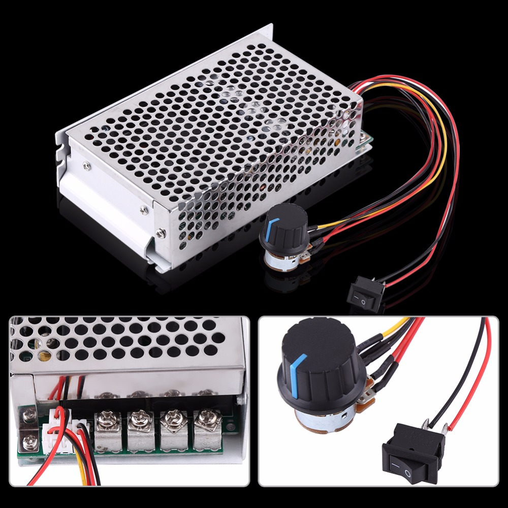 New Speed Controller 10-50V 100A 5000W DC Motor Speed Regulator Motor Speed Control Controller PWM Control Switch Governor(China (Mainland))