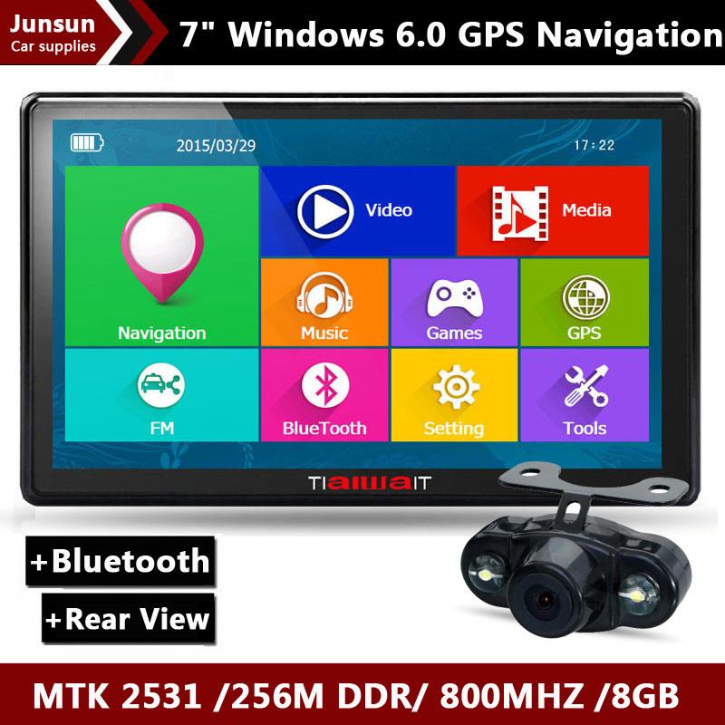 GPS-навигатор 2015 7/hd GPS/bluetooth FM 8 /256M DDR/800 GPS Navi портативный gps навигатор lexand sb 7 hd