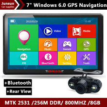 2015 New 7 inch HD Car GPS Navigation Capacitive screen Bluetooth Rear view FM 8GB/256M DDR/800MHZ Truck vehicle gps Navi