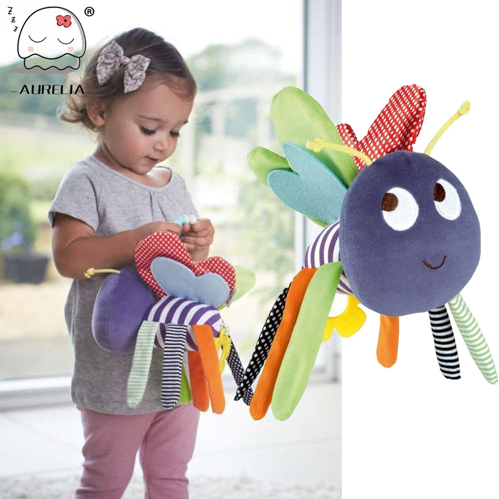 Butterfly Baby Toys 0-12 Months Plush Doll Baby Rattle Kids Mobile Hanging Bed Bell Car Stoller Brinquedos Bebes(China (Mainland))
