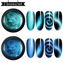 Magnético 5D ojo de gato Gel de uñas holográfico mágico cielo estrellado Jade efecto UV Gel barniz 5ml remojo de uñas arte de laca(China)