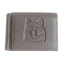 Luxury Brand Men Money Clip 100 Genuine Cow Leather Wallet Mens clip for money Black clamp