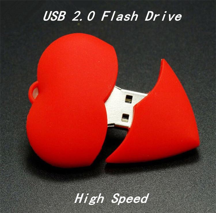 Red Heart Hearts USB Flash Pen drive Driver Genuine 4GB 8GB 16GB 32GB Flash Memory Stick Pendrive Pendriver U disk Wedding gift(China (Mainland))