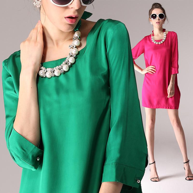 2013 ammonia copper wire heavy silk fashion one-piece dress queen yeah