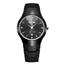 Homens relógio DOM Marca quente esporte Cinta de aço de tungstênio de Luxo W-698-1M 30m à prova d' água de Negócios de Quartzo relógios de Pulso Moda Casual(China)