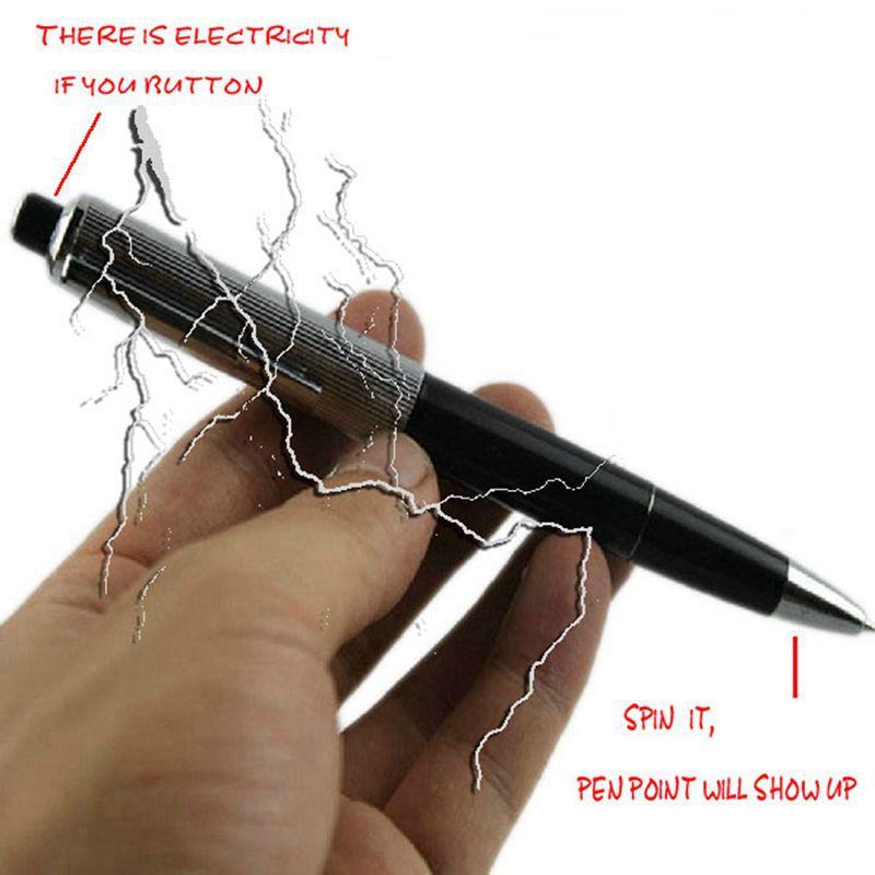 Promotion Fancy Ball Point Pen Shocking Electric Shock Toy Gift Joke Prank Trick Fun(China (Mainland))
