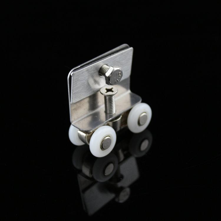 Гаджет  1pcs Alloy Cupboard Doors Shower Hanging Round Length 45mm Diameter 17mm Pulley For Sliding Shower Door Wheels None Аппаратные средства