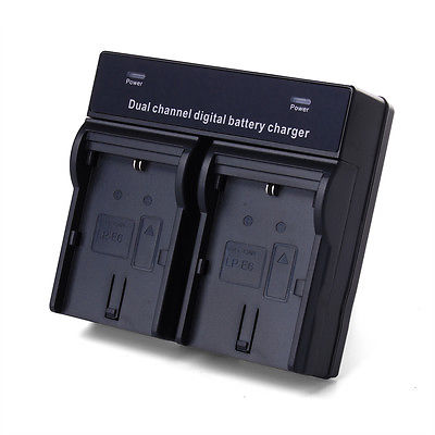 Dual Battery Charger For Canon LP-E6 EOS 5D Mark II III 70D 7D 60D UK Plug BC360(China (Mainland))