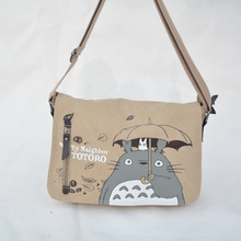2016 Anime My Neighbor Totoro Messenger Canvas Bag Shoulder Bag Sling Pack My Neighbor Totoro Cosplay
