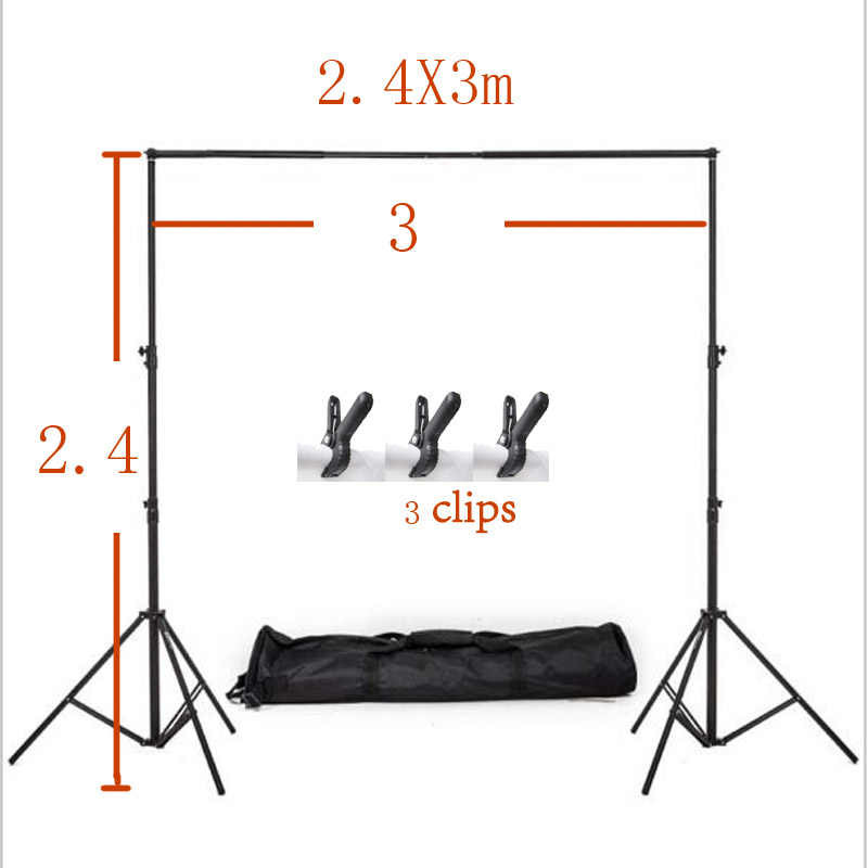 2X2m Photography Backdrop Stand Backdrop Support System Photography Studio Equipment Backdrop Portable Stand +carry bag +4 clips<br><br>Aliexpress
