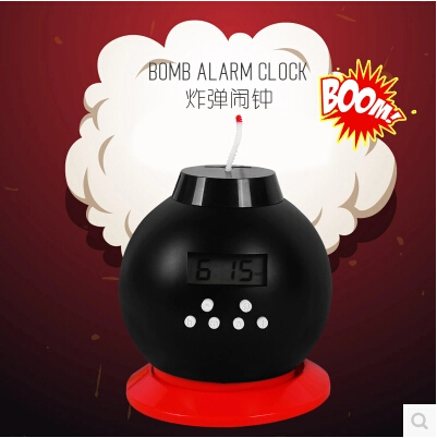 Free shipping Bomb Alarm clock personalized fashion creative explosion shaking the piggy bank alarm clock peppa abajur(China (Mainland))
