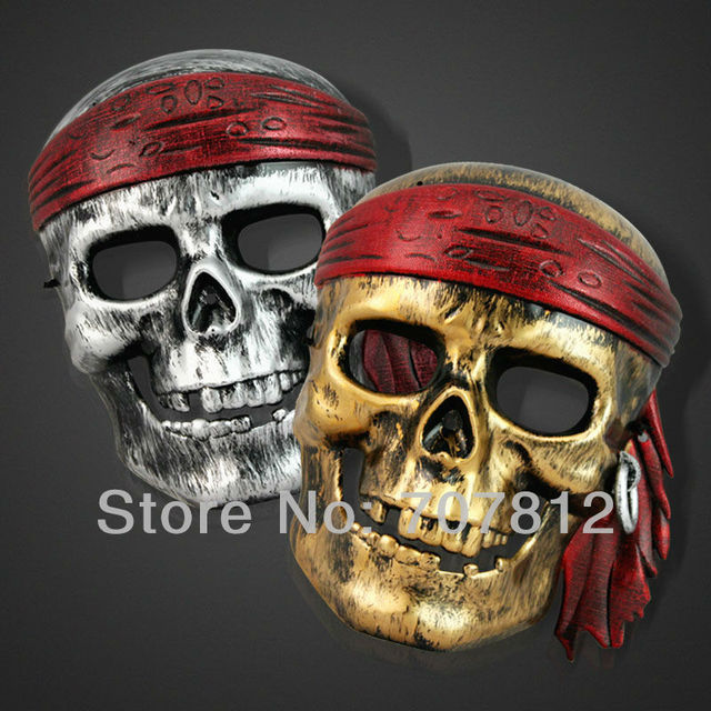 2013 new 10pcs Pirates of the Caribbean skull mask lighting Anonymous mask Halloween carnival party mask brand new free shipping