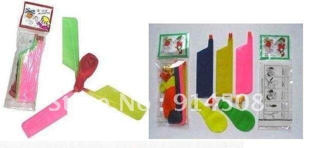 Free Shipping/50piece new design /children toy//self-combined Balloon Helicopter(China (Mainland))